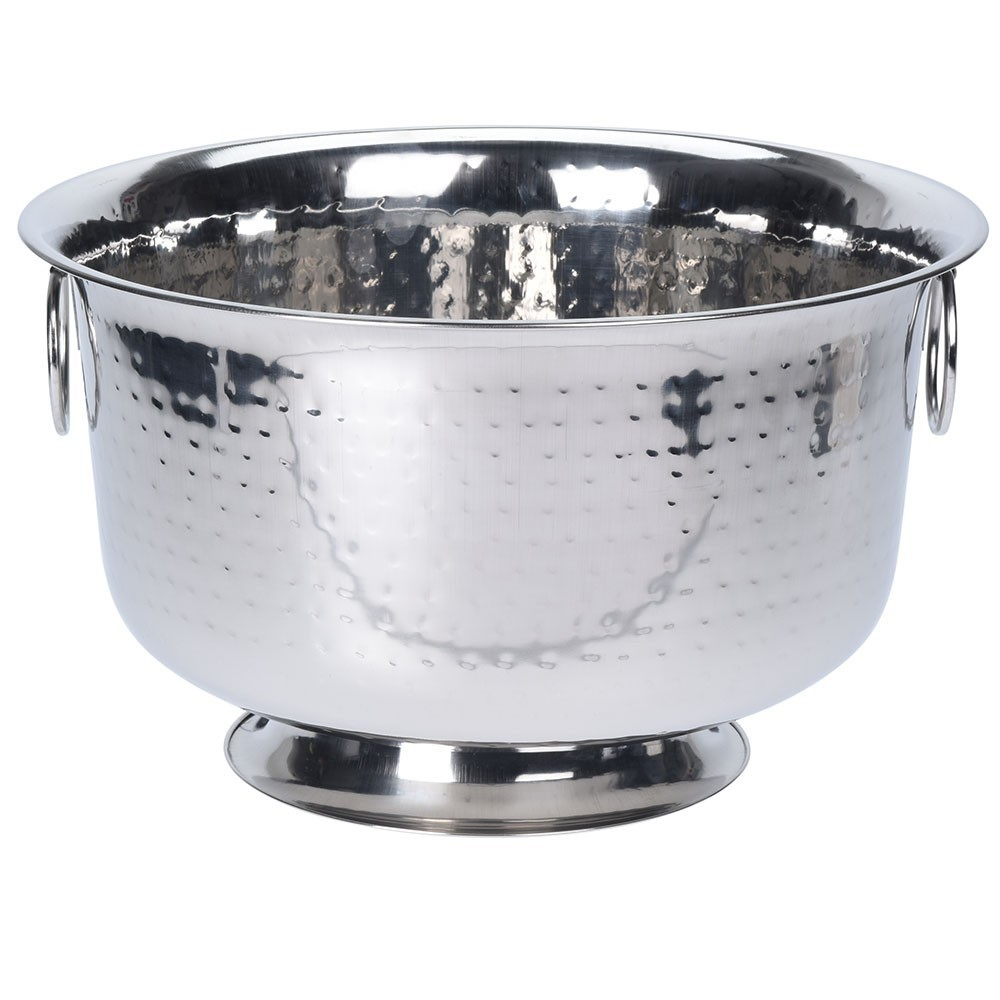 DekorStyle Chladicí mísa 37x22 cm stříbrná