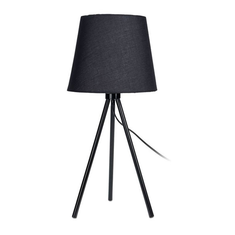 DekorStyle Černá stolní lampa se stínidlem 55 cm