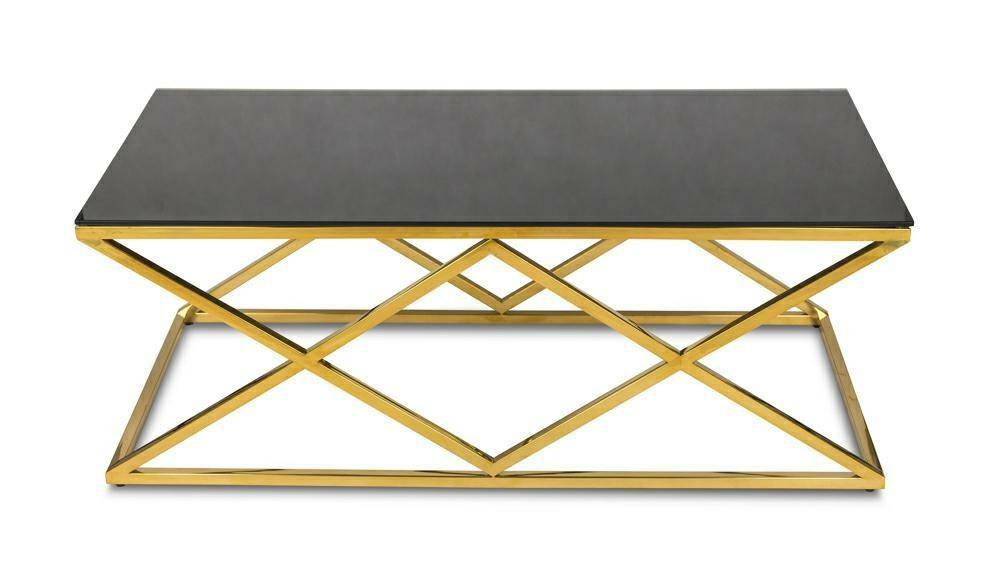 DekorStyle Konferenční stolek Diamant Gold 45 cm