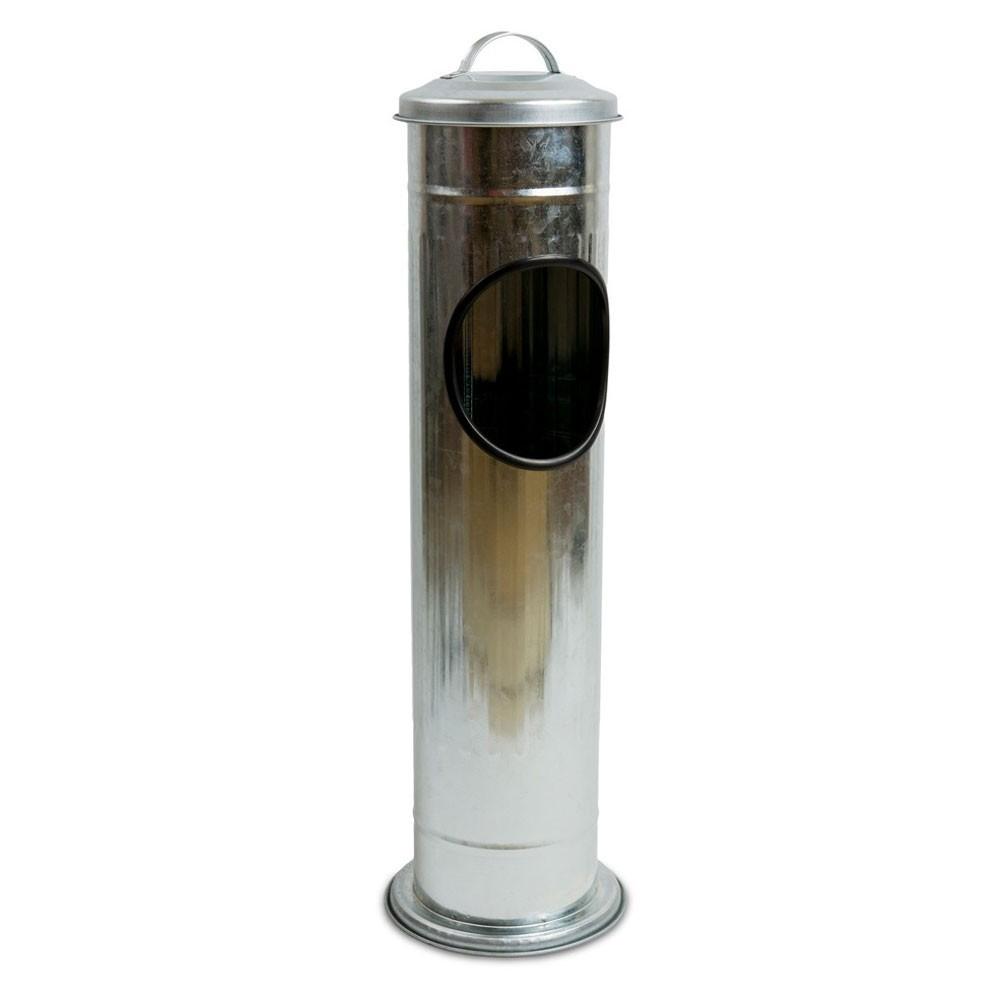 DekorStyle Odpadkový koš s popelníkem Gil stříbrný