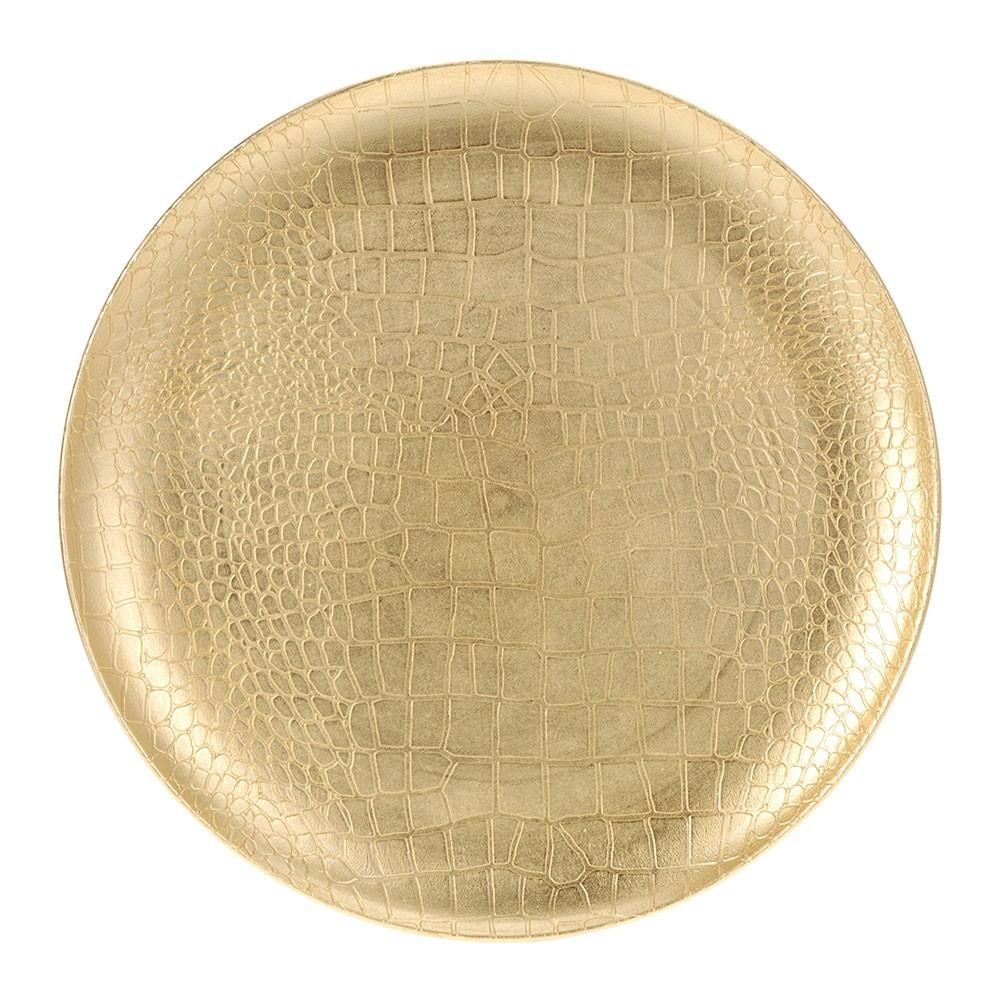 DekorStyle Dekorativní talíř zlatý
