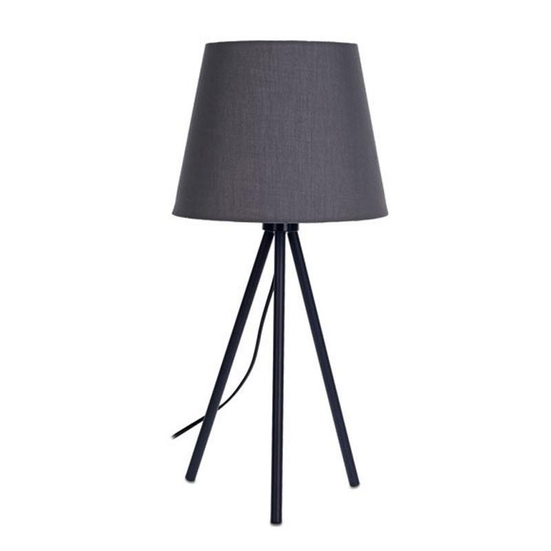 DekorStyle Šedá stolní lampa se stínidlem 55 cm