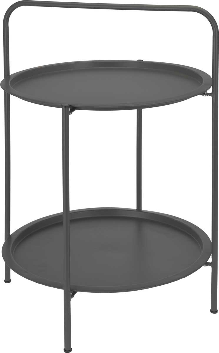 DekorStyle Dvouúrovňový konferenční stolek Feray šedý