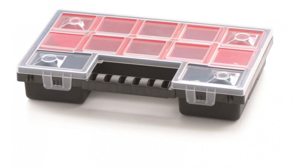PlasticFuture Organizér na nářadí 12 přihrádek Orif 287x186x50 červený