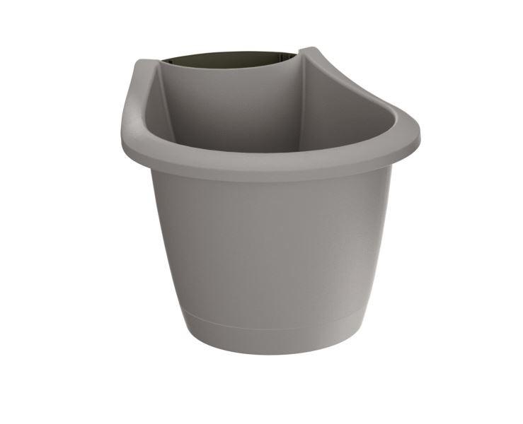 PlasticFuture Květináč Respana Spout šedý