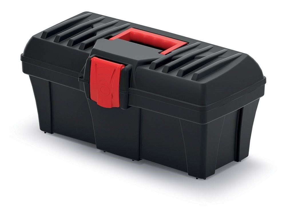 PlasticFuture Plastový kufr na nářadí Calin 400x200x186 černo-červený