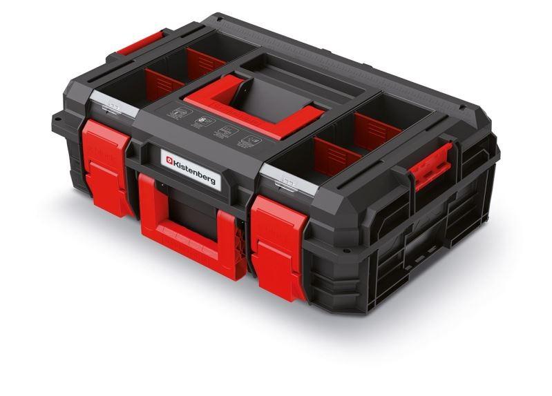 PlasticFuture Kufr na nářadí X-BLOCK LOG 54,6x38x19,4 cm černo-červený