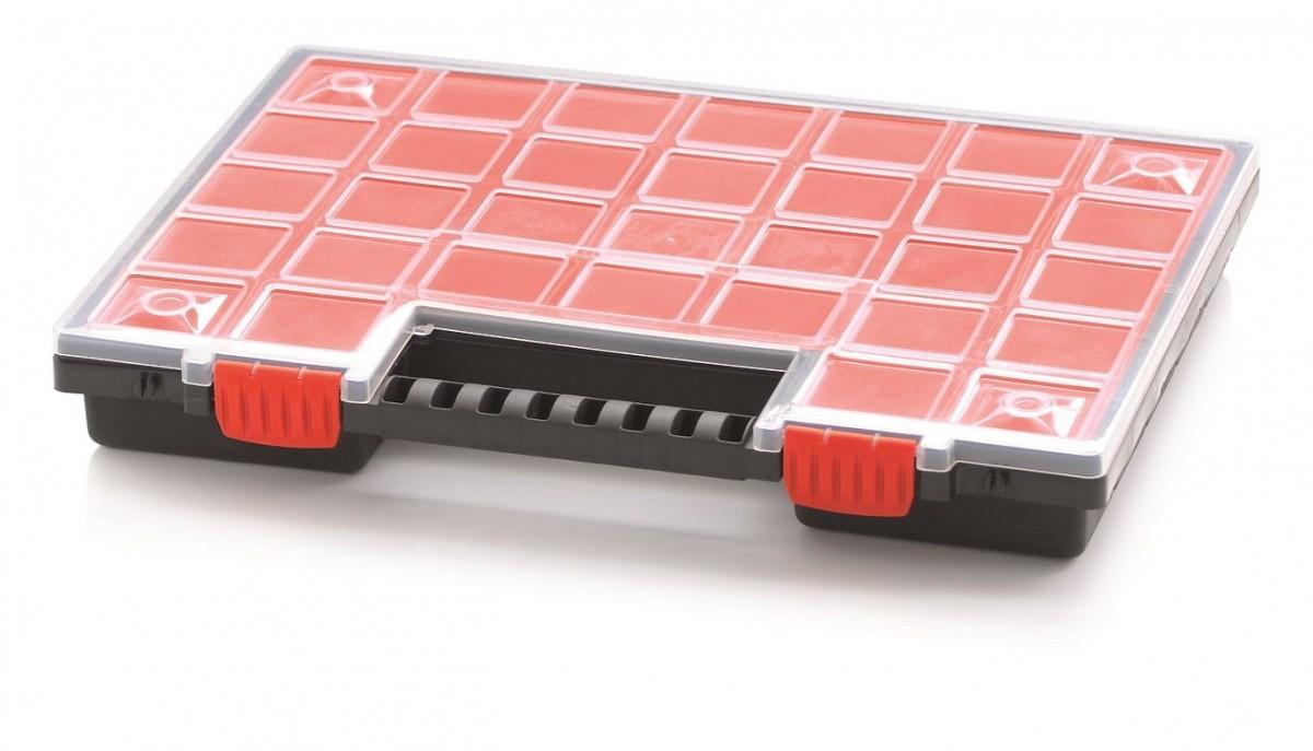 PlasticFuture Organizér na nářadí 21 přihrádek Orif 399x303x50 červený