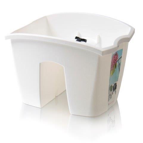 PlasticFuture Truhlík na zábradlí CROWL bílý 24,2cm