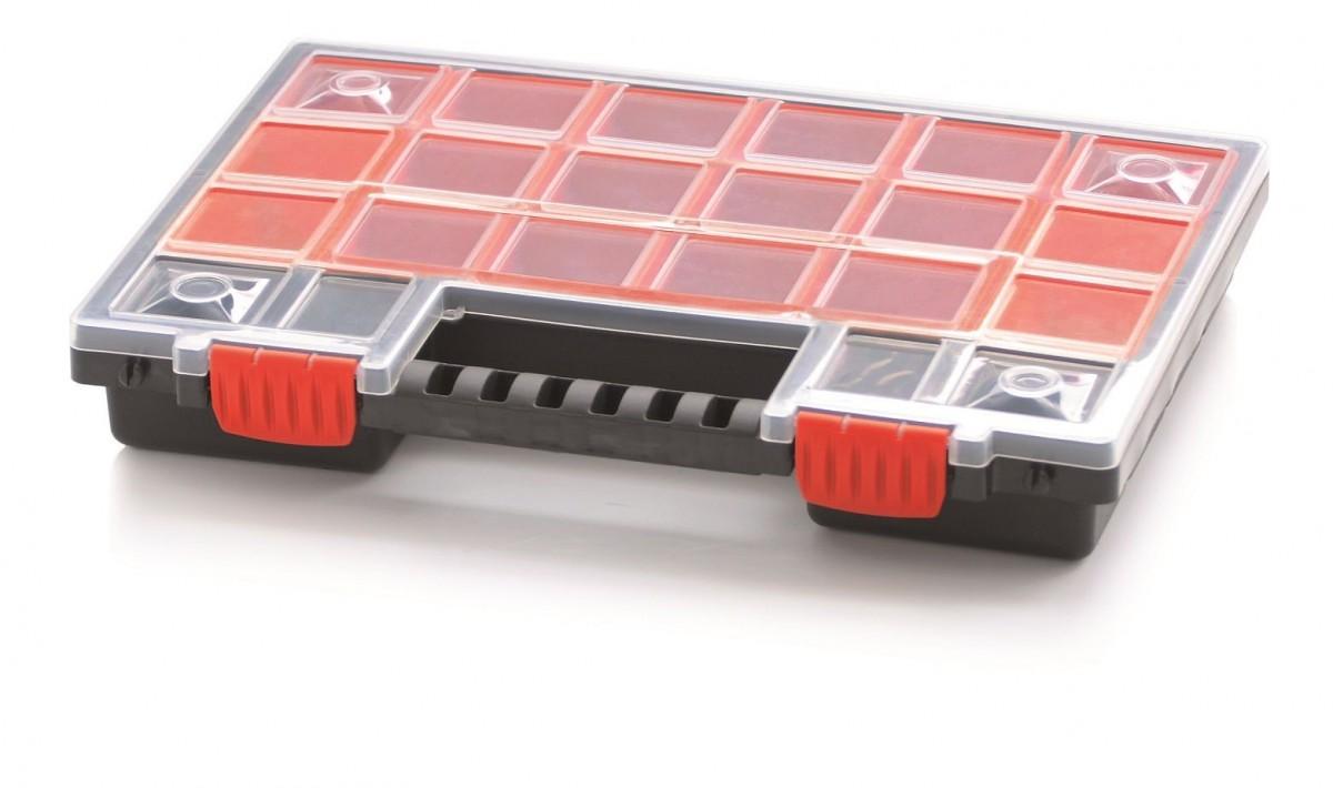 PlasticFuture Organizér na nářadí 22 přihrádek Orif 344x249x50 červený