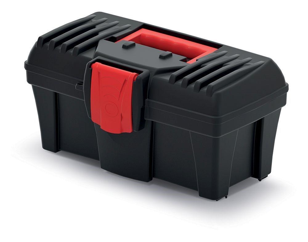 PlasticFuture Plastový kufr na nářadí Calin 300x167x150 černo-červený