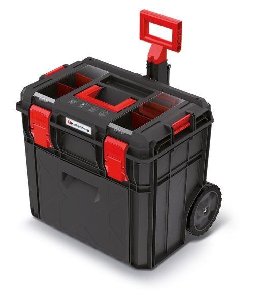 PlasticFuture Kufr na nářadí X-BLOCK LOG 54,6x38x51 cm černo-červený