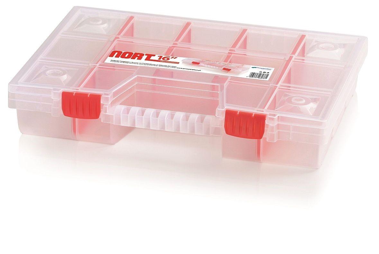 PlasticFuture Organizér na nářadí 14 přihrádek Bonell 390x290x65 červený