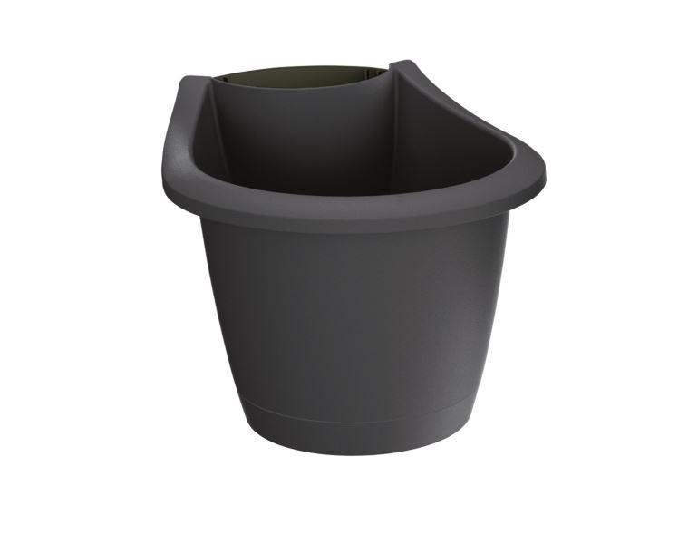PlasticFuture Květináč Respana Spout tmavě šedý
