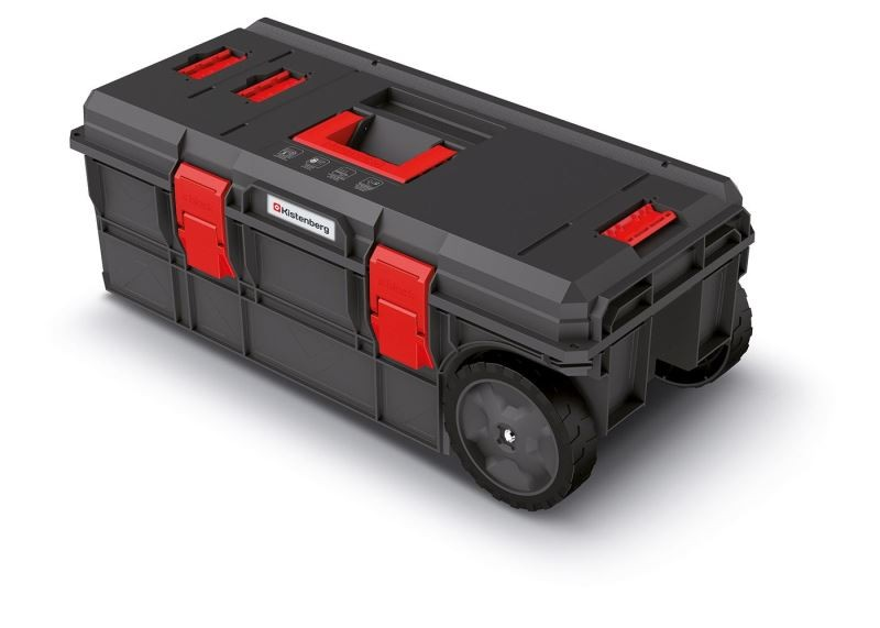 PlasticFuture Kufr na nářadí X-BLOCK PRO 79,5x38x30,7 cm černo-červený