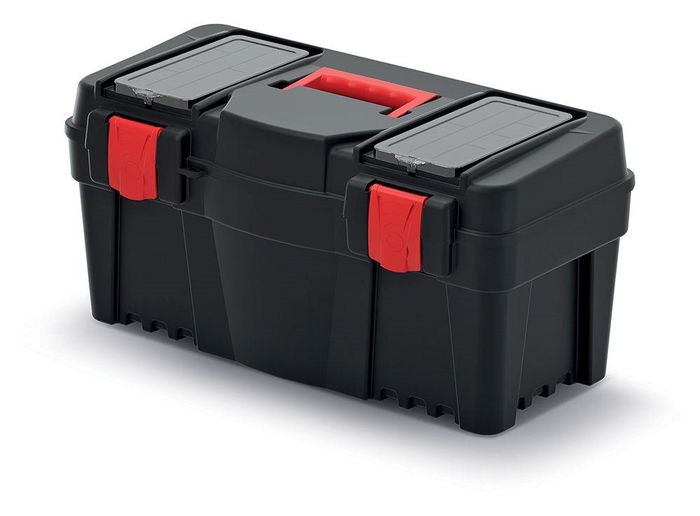 PlasticFuture Plastový kufr na nářadí Calin 550x267x270 černo-červený