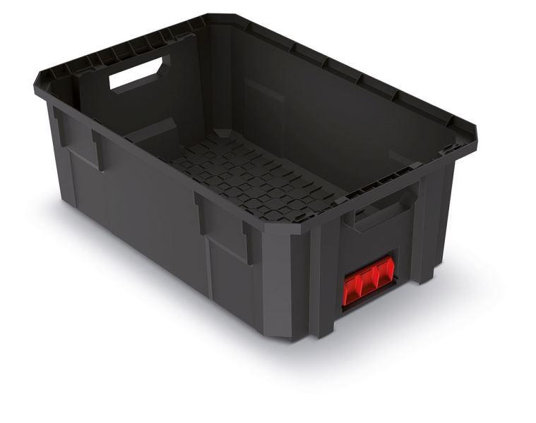 PlasticFuture Modulární přepravní box BLOKPRO černý 544x362x200