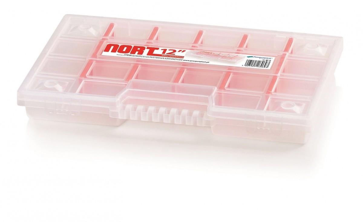 PlasticFuture Organizér na nářadí 22 přihrádek Bonell 290x195x35 červený