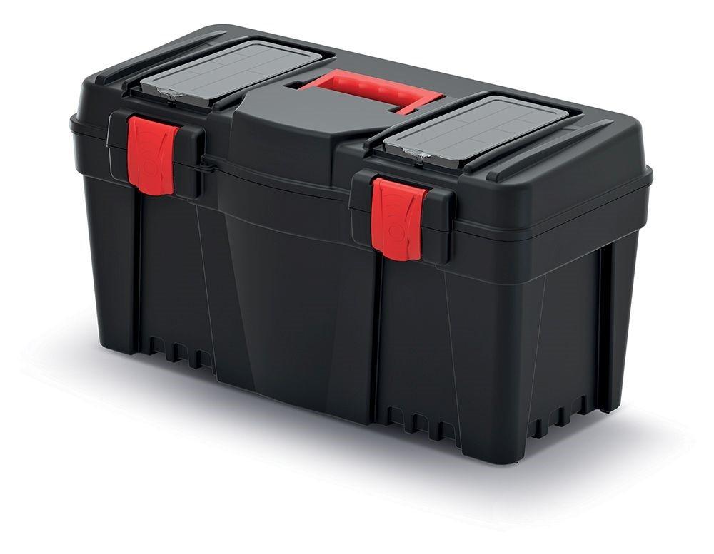 PlasticFuture Plastový kufr na nářadí Calin 597x285x320 černo-červený
