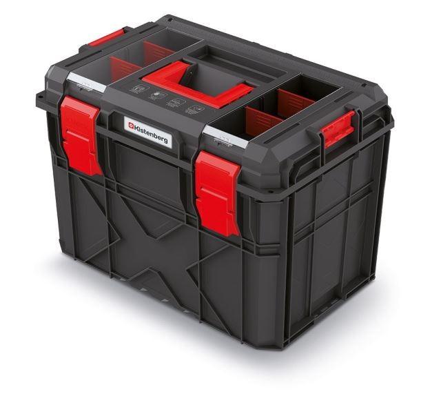 PlasticFuture Kufr na nářadí X-BLOCK LOG 54,6x38x40,7 cm černo-červený
