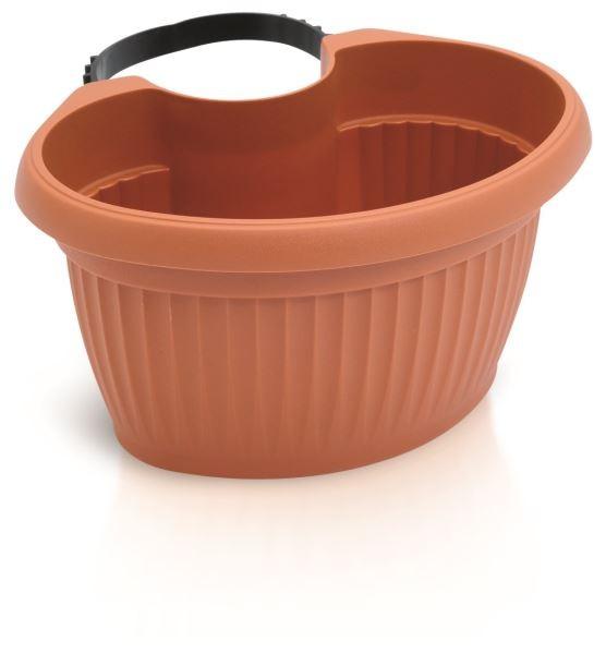 PlasticFuture Květináč Terra Spout oranžový