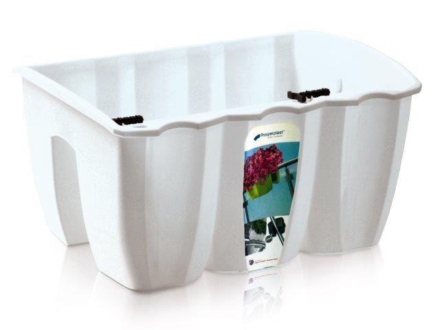 PlasticFuture Truhlík na zábradlí CROWL bílý 39,3cm