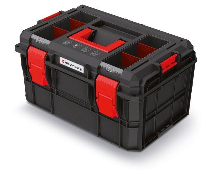 PlasticFuture Kufr na nářadí X-BLOCK LOG 54,6x38x30,7 cm černo-červený
