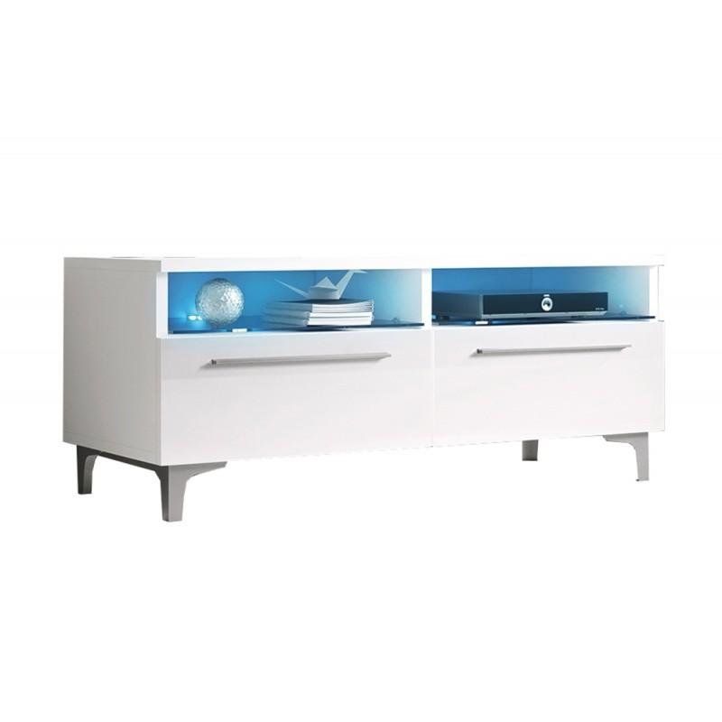 Hector TV stolek Ive RTV 100 cm bílý lesk