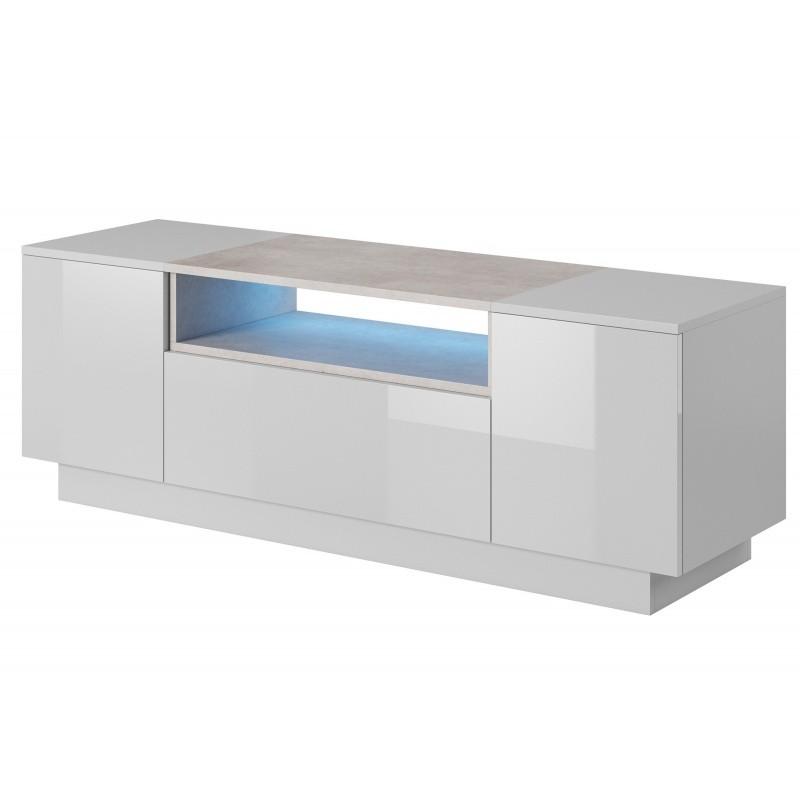 Hector TV stolek Beo II RTV 140 cm bílý/beton