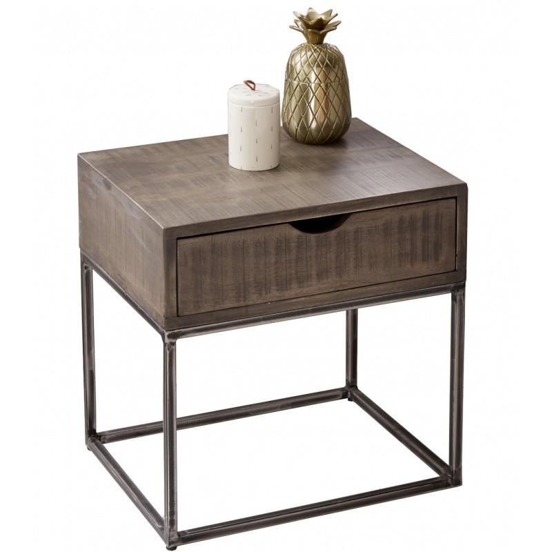 Hector Noční stolek Etta hnědý/akát