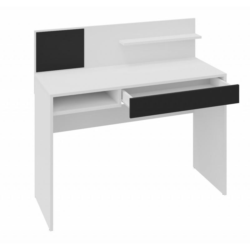 Levně Hector Psací stůl s magnetickou tabulí Magio 110 cm bílý/černý
