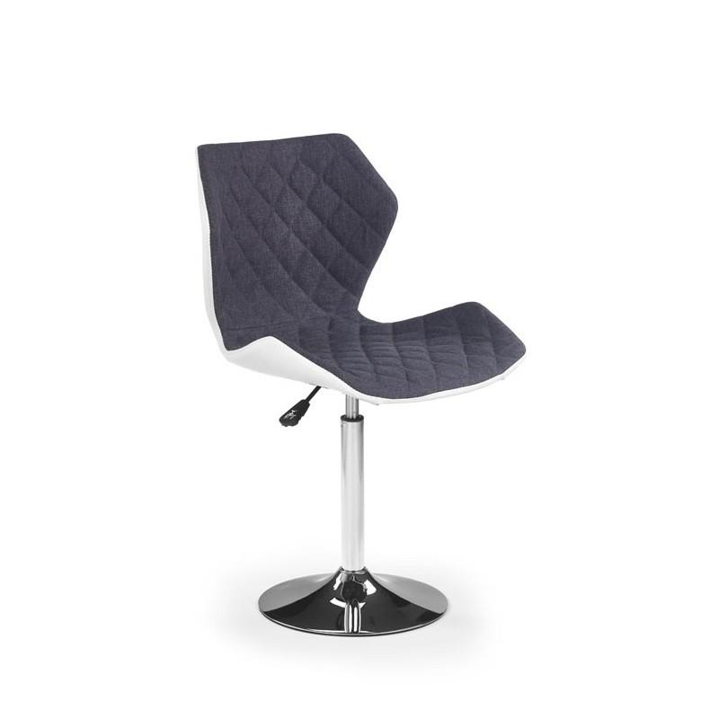 Hector Barová židle Matrix bílá/šedá
