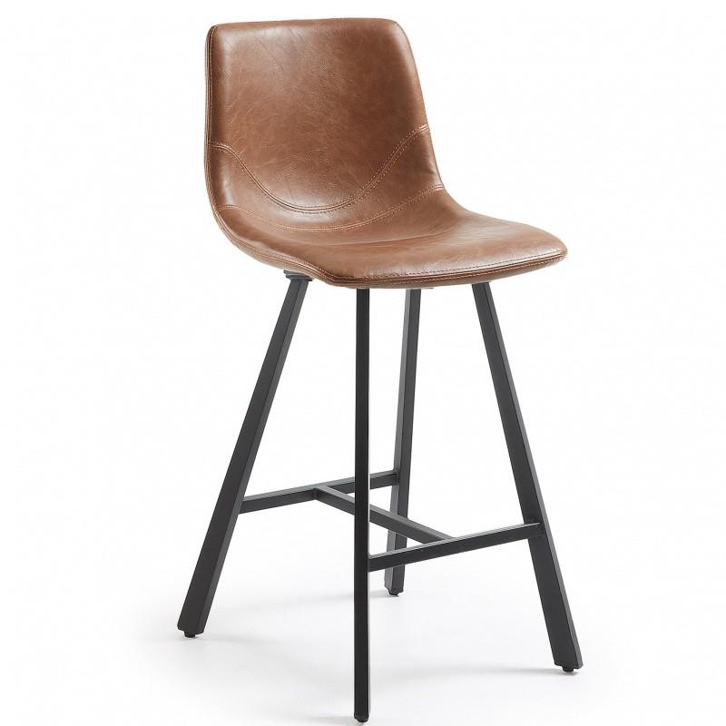 Hector Barová židle Trac I hnědá/černá