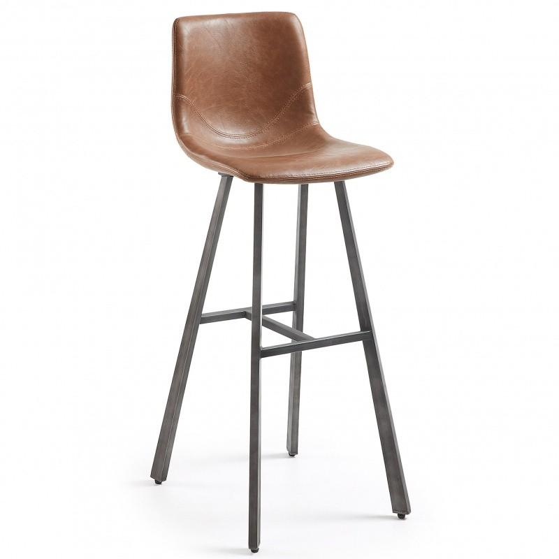 Hector Barová židle Trac hnědá/černá