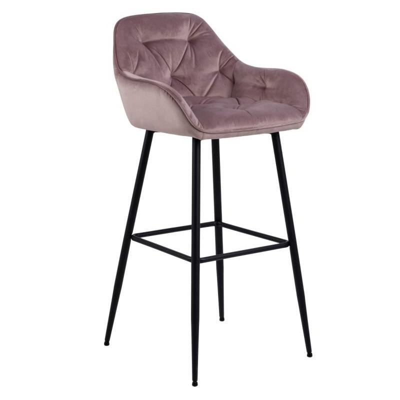 Hector Barová židle Brooke pudrově růžová