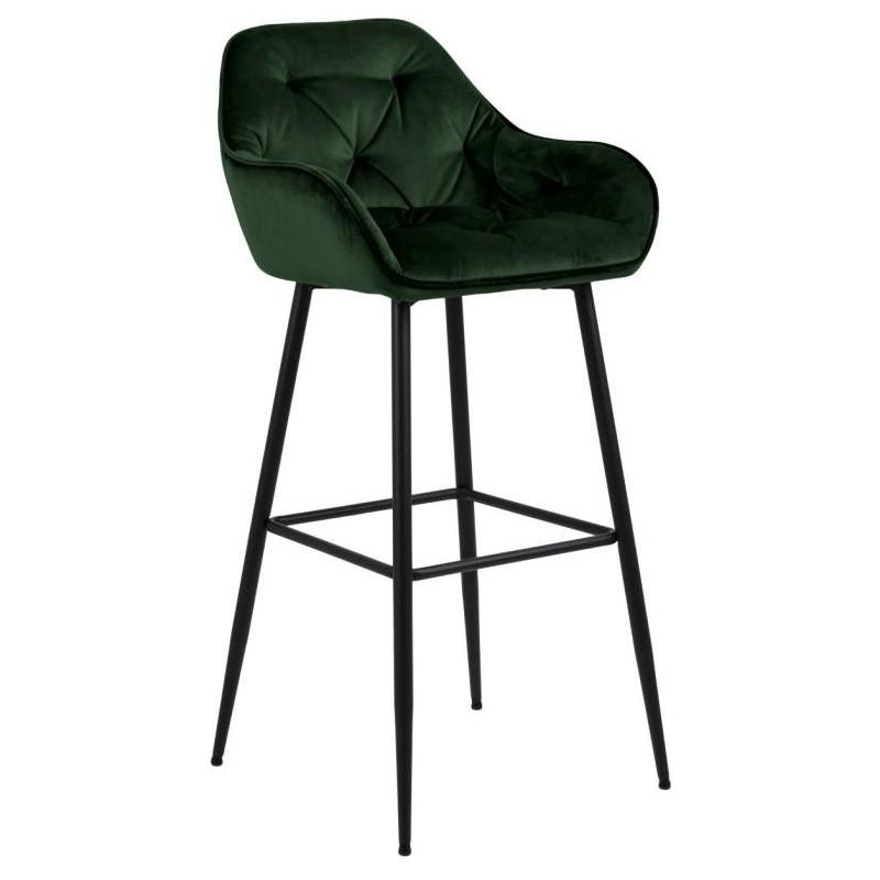 Hector Barová židle Brooke tmavě zelená