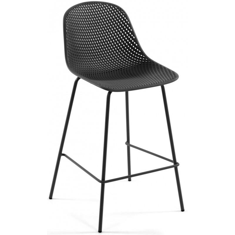 Hector Barová židle Quinby šedá
