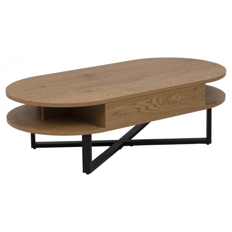 Hector Konferenční stolek Alendalle se zvedací deskou hnědý/černá