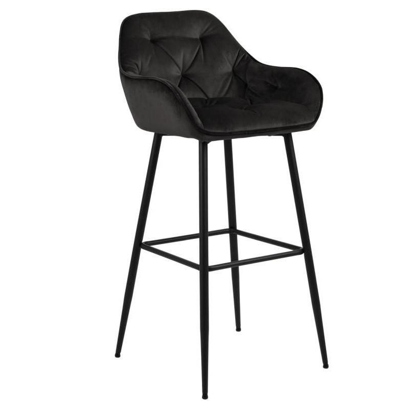 Hector Barová židle Brooke šedo/hnědá