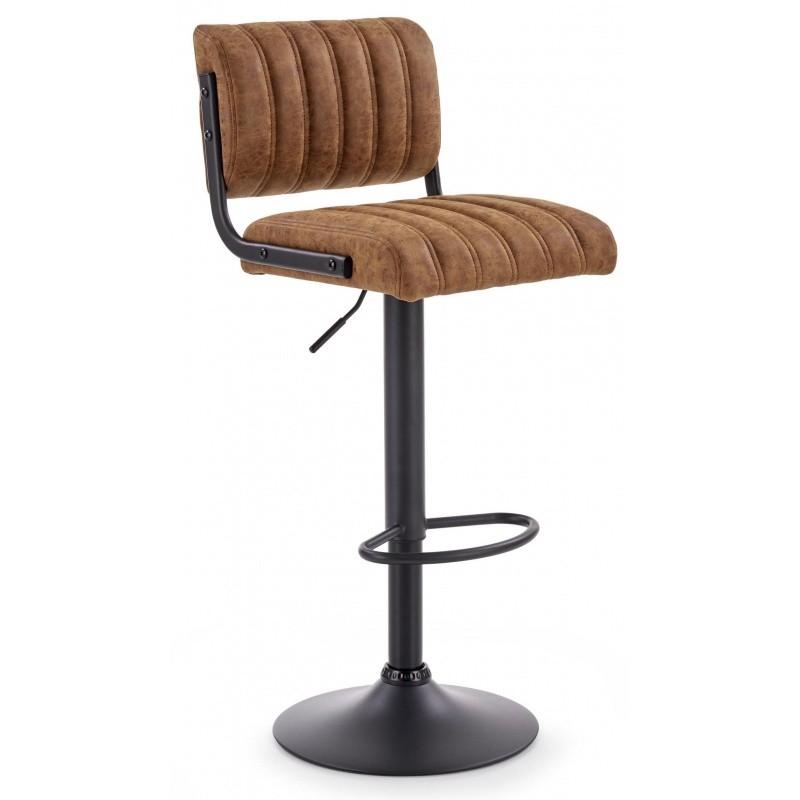 Hector Barová židle Hely hnědá/černá