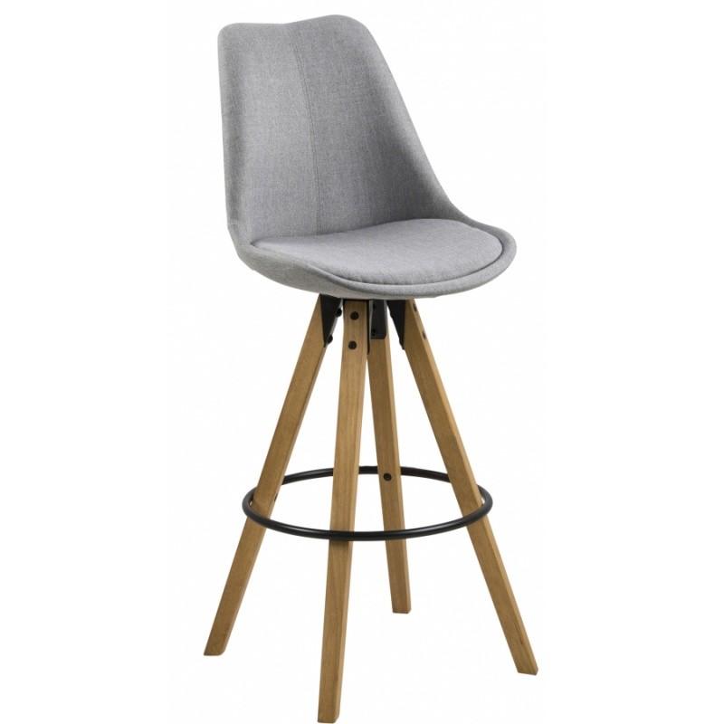 Hector Barová židle Dema světle šedá