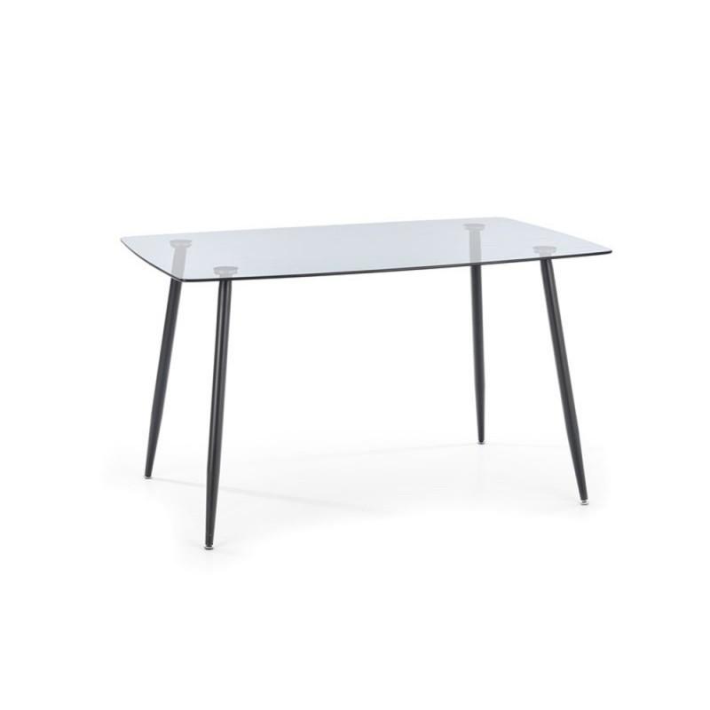 Hector Skleněný jídelní stůl Sparkle 130 x 80 cm černý