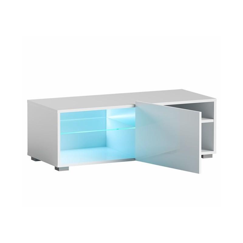 Hector TV stolek Grado RTV 100 cm bílý lesk