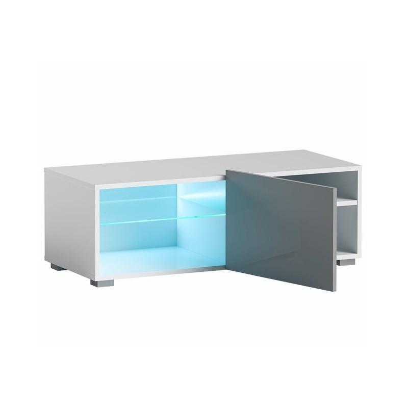 Hector TV stolek Grado RTV 100 cm bílý/šedý lesk