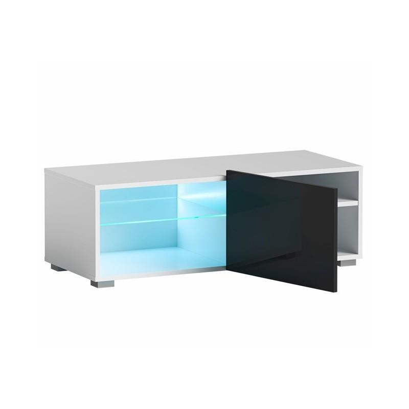 Hector TV stolek Grado RTV 100 cm bílý/černý lesk