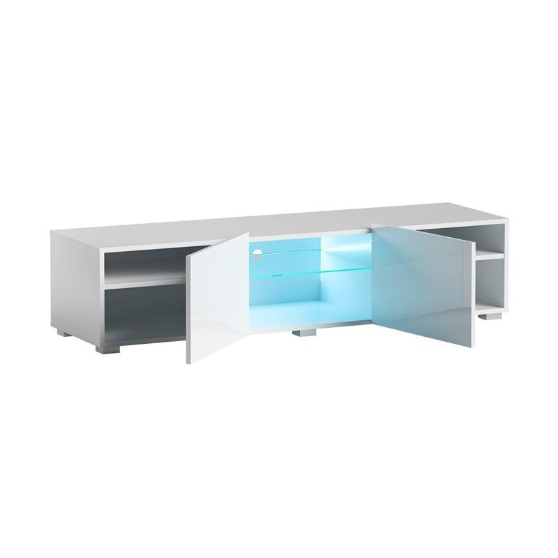 Hector TV stolek Grado II  RTV 150 cm bílý lesk