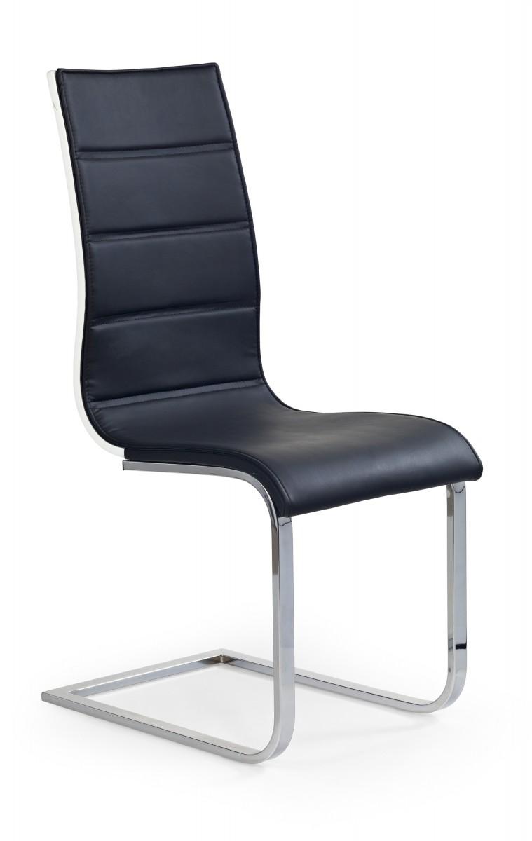 Halmar Jídelní židle Kristal černá/bílá