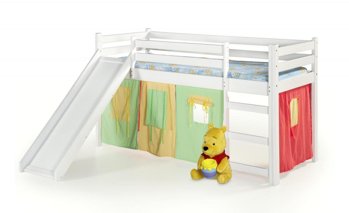 Halmar Dětská postel Neo Plus se skluzavkou bílá