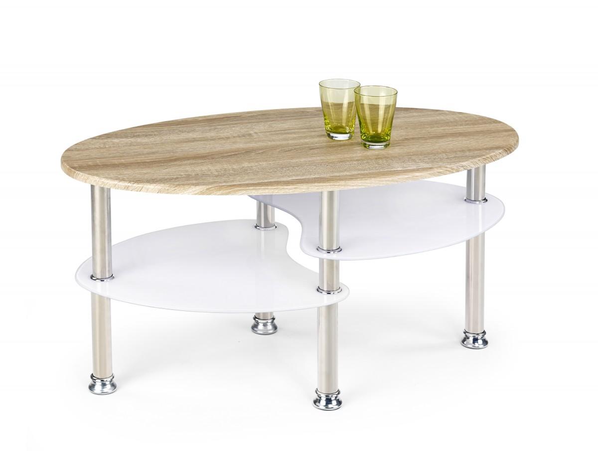 Halmar Konferenční stolek Matea dub sonoma/extra bílá