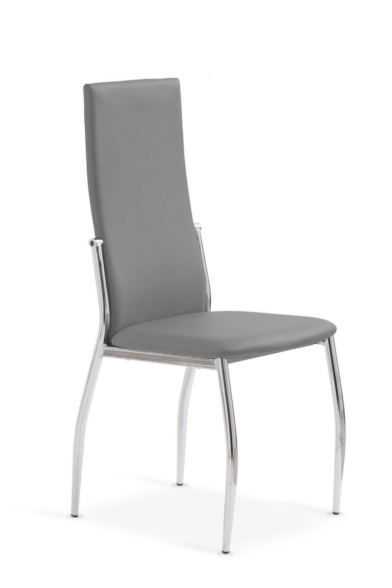 Halmar Jídelní židle Cassie šedá/chrom